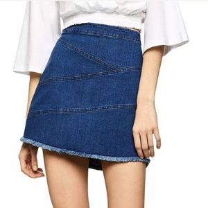 Bcbgeneration- Frayed denim mini skirt